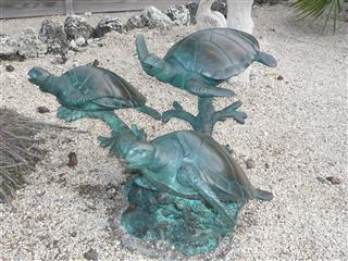 Bronze Turtle in garden area near canal - VILLA RIOLO - Islamorada - rentals