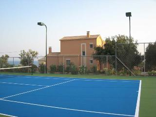 Tennis court Luxury Villa Ai-Helis beach Kefalonia - Cephalonia vacation rentals