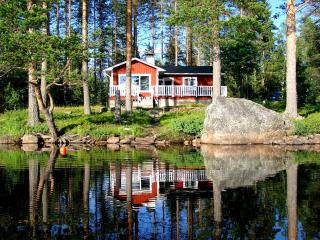 LAKE NISSÅNGEN - Lakefront Bad Boat Sauna Fishing - Swedish Lakeland vacation rentals