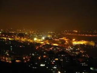 Night Time Temple Mount View - Breathtaking view of Temple Mount and Mount of Olives - Jerusalem - rentals