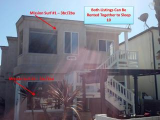 Few steps to Beach! - Patio/BBQ MS2 - Pacific Beach vacation rentals