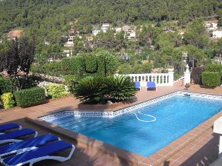 Beautiful mountain villa in Torrelles with incredible views and a large private pool, just 15km from - Cervello vacation rentals