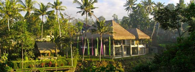 View of Alami Villa from across the river canyon. - Stunning River View at Alami Villa with Staff - Ubud - rentals