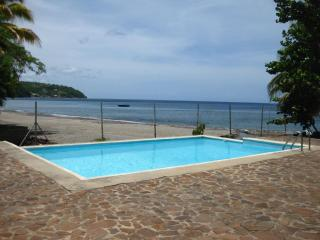 Beachfront 3 bedroom cottage with pool on very spacious grounds - Dominica vacation rentals