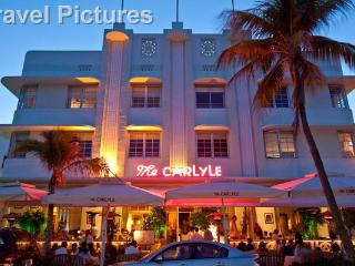 Front of Carlyle at Night - Luxury 1 Bedroom Rental Unit Across from Beach! - Coconut Grove - rentals