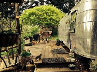 Glamping in Luxury! Vintage Airstream Trailer in a beautiful garden setting - North Coast vacation rentals