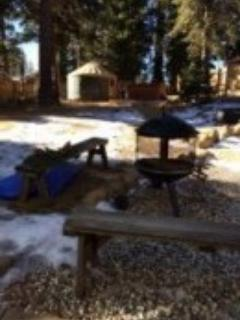 "Backyard with yurt - ""Old Tahoe"" Cabin - Tahoe Vista - rentals"