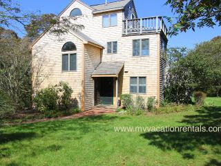 KINNE - Easy Breezy Vacation Home with Distant Waterview,  Tri-Level Living Spaces, Multiple Decks, Large Private Yard - Aquinnah vacation rentals