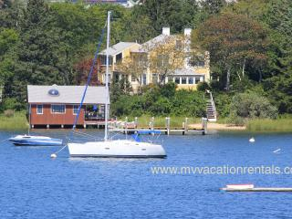 RHOAK - Exquisite Waterfront Home and Guest/Boat House, Private Dock, Lagoon Beach, Private Location, Walk to Town Center - Edgartown vacation rentals