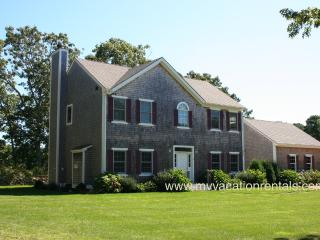 BRANF - Exquistie Contemporary Home in Fresh Pond Estates,  Screened Porch, Spacious Deck, AC, Wifi, Beautifully Furnished, Bike Paths at the head of the Road - Oak Bluffs vacation rentals