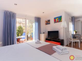 Studio with terrace and view of Sagrada Familia - Barcelona vacation rentals