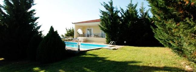 View of villa from the garden - Villa Efterpe,Amazing Views, Private Pool, Garden - Kalamaki - rentals