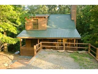 Easy parking on the pad in front view of Bucky and Doe-Does with additional parking in the cul de sac - Bucky And Doe Doe's Place * HOT TUB* Resort - Ellijay - rentals