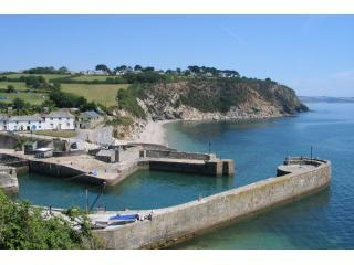 charlestown harbour, beach in background - Appletree House Charlestown,St Austell,Cornwall - Charlestown - rentals
