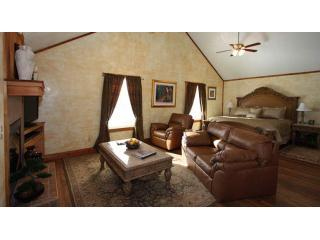 Tuscan Living Room - Tuscan Cottage Hill Country Views w/ Hot Tub - Fredericksburg - rentals