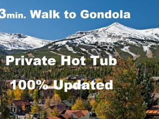 Contemporary, Right in town. Private HotTub, View! - Breckenridge vacation rentals