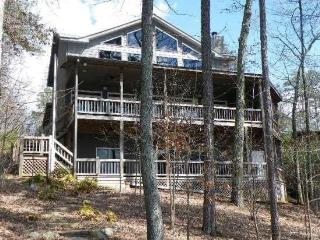 OVERLAKE COTTAGE*4 BR~3.5 BA~LUXURY COTTAGE~ON LAKE BLUE RIDGE~WIFI~LONG RANGE MOUNTAIN VIEWS~PRIVATE DOCK~HOT TUB~FIREPLACE~CHA - North Georgia Mountains vacation rentals