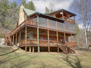 RIVER ESCAPE ON THE TOCCOA- 4 BR/3.5 BA, CABIN ON THE TOCCOA RIVER, RIVERSIDE DECK, WOODBURNING FIREPLACE, POOL TABLE, HOT TUB, CHARCOAL GRILL, ONLY $225/NIGHT! - Blue Ridge vacation rentals