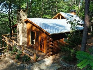 LITTLE BEAR*SIT IN THE HOT TUB IN FRONT OF THE OUTDOOR FIREPLACE AND WATCH TV!-SECLUDED-MOUNTAIN VIEW-WIFI-OUTDOOR ENTERTAINMENT - Blue Ridge vacation rentals
