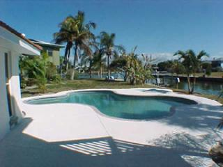 Pool overlooking canal - 541 67th Street - Holmes Beach - rentals