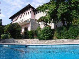 Lake Maggiore lakefront villa with pool and beach - Dormelletto vacation rentals
