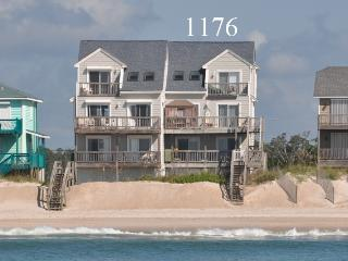 New River Inlet Rd 1176 Oceanfront! | Internet, Jacuzzi - North Topsail Beach vacation rentals