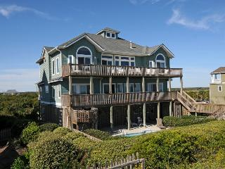 Ocean View Ln 124 Oceanfront! | Private Heated Pool, Hot Tub, Elevator, Jacuzzi, Internet, Fireplace, Linens Provided, Game Equipment - North Topsail Beach vacation rentals