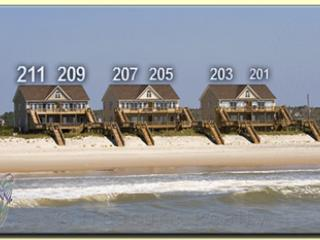 Main View - Goldsboro Lane 203 Oceanfront! | Internet, Jacuzzi! New 46 inch TV!! - North Topsail Beach - rentals
