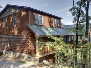 MOUNTAIN SCAPES- 3 BR/3.5 BA CABIN WITH A BEAUTIFUL MOUNTAIN VIEW ON 4.5 PRIVATE ACRES, SLEEPS 10, WIFI,HOT TUB, POOL TABLE, WOOD BURNING FIREPLACES, SAT TV ON ALL TVS, $165/NIGHT! - Blue Ridge vacation rentals