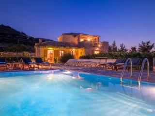 Traditional stone house Villa Purple in gated community with private pool & sea access - Kallithea vacation rentals