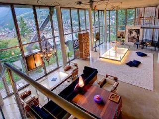 Huge Heinz Julen Loft in a Swiss Alp chalet with grand piano, private chef, hot tub & sauna - Valais vacation rentals