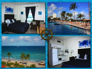 Ocean View Studio Apt on the Beach free WiFi - Hollywood vacation rentals
