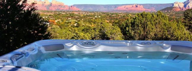 Soak in the 9 seat theraputic hot spa under the stars - Villa with guest studio and breathtaking views - Sedona - rentals