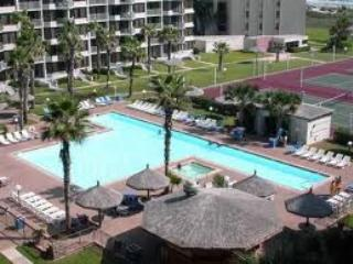 The large T shaped Pool closest to your unit. - Captivating View from 11th Floor Saida Towers - South Padre Island - rentals