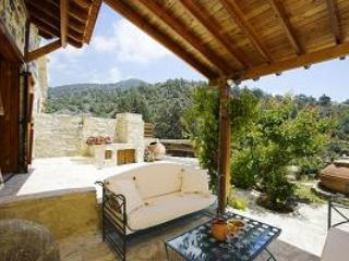 blue cottage patio facing south - Blue cottage among pine trees on Troodos Mountains - Limassol - rentals