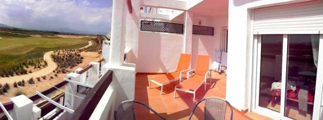 Your balcony overlooking golf course and mountains - Condado de Alhama - Alhama de Murcia - rentals