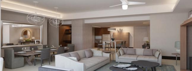 Architect's Rendering - Luxxe SPA Living Room - Luxxe SPA-3 Bedroom Residences, Nuevo Vallarta, MX - Nayarit - rentals