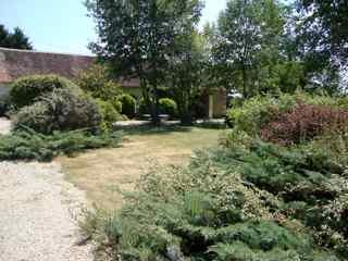 Front courtyard central garden - for meeting the other guests and for the kids to play together - La Juberdiere - La Sellerie - Montresor - rentals