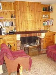 Living room with fireplace - House in Spain Priorat Siurana region - Province of Tarragona - rentals