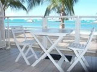 terrace - Beach Front Studio - Guadeloupe - rentals