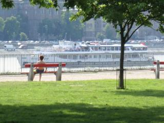 Budapest center river park Danube