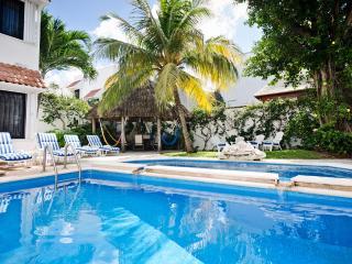 Casa Topaz-2 level pool, lush tropical garden - Cozumel vacation rentals