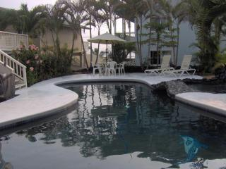 Inviting Pool area with Gas BBQ - Hale Queen Kalama Walk to White Sands Beach - Kailua-Kona - rentals