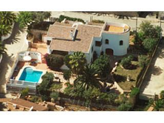 An aerial view - Villa Limon Javea in beautiful gardens with pool. - Javea - rentals