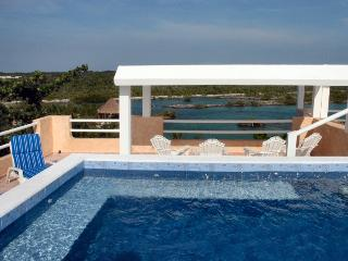 MAYA - FREN4 Gorgeous ocean and lagoon view perfect for a family reunion. - Akumal vacation rentals