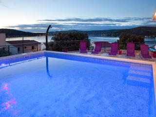 Apartment in villa with private pool  with a large terrace overlooking the sea - Northern Dalmatia vacation rentals
