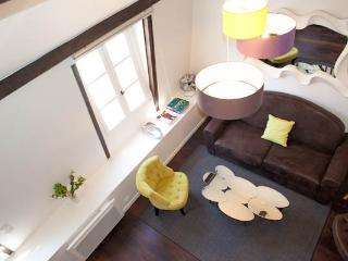 Rue Quincampoix. Comfortable and nicely designed 1bed Duplex in Le Marais - Paris vacation rentals