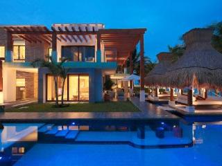 Plush, Modern Villa with 200 Feet of Oceanfront Viewing - Azul Villa Esmeralda - Puerto Morelos vacation rentals