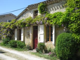 Old cottage by castle; garden; pool; sleeps 8 - Larressingle vacation rentals