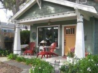 Front veranda porch w peek of Monterey Bay - Nance's Manse FURNISHED - Pacific Grove - rentals